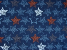 "Sweat Hilco ""Chalky Stars Denim"" dunkelblau"