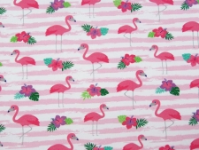 Sommersweat Flamingos rosa - offwhite