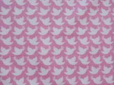 "Baumwolljersey Lycklig Design ""Peaceful Dove"" rosa"