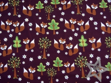 "Sweat Hilco ""Fox in the Forest"" bordeaux"