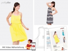 Sommerkleid Coco, Schnittmuster Gr. 32 - 48 by pattydoo